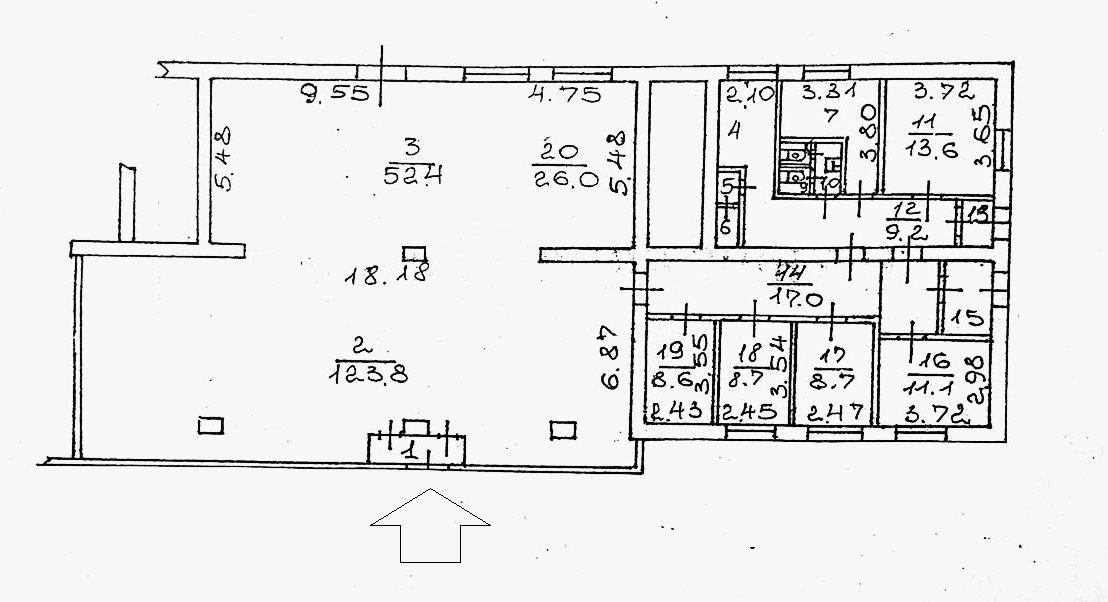 Сдам торговую площадь, 310м²