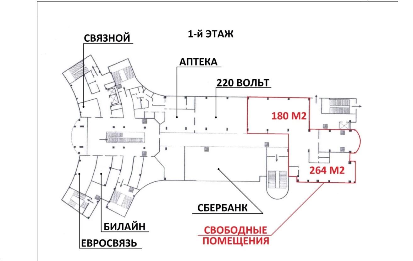Сдам торговую площадь, 450м²