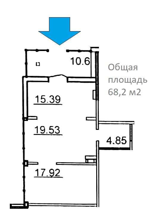 Сдам торговую площадь, 68м²