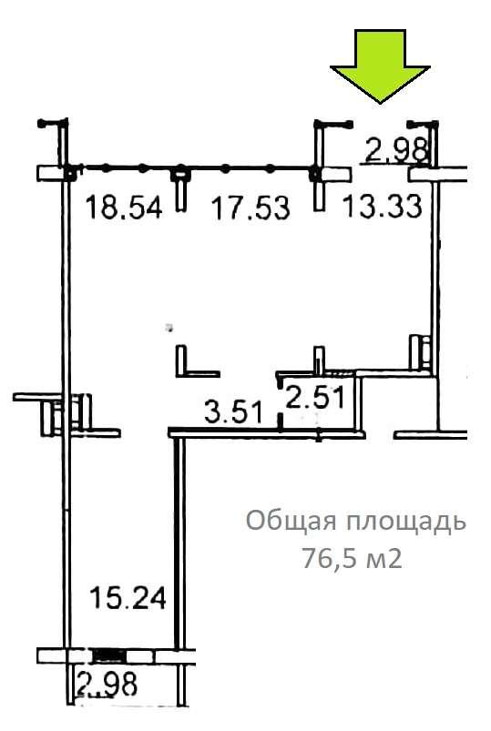 Сдам торговую площадь, 76,5м²