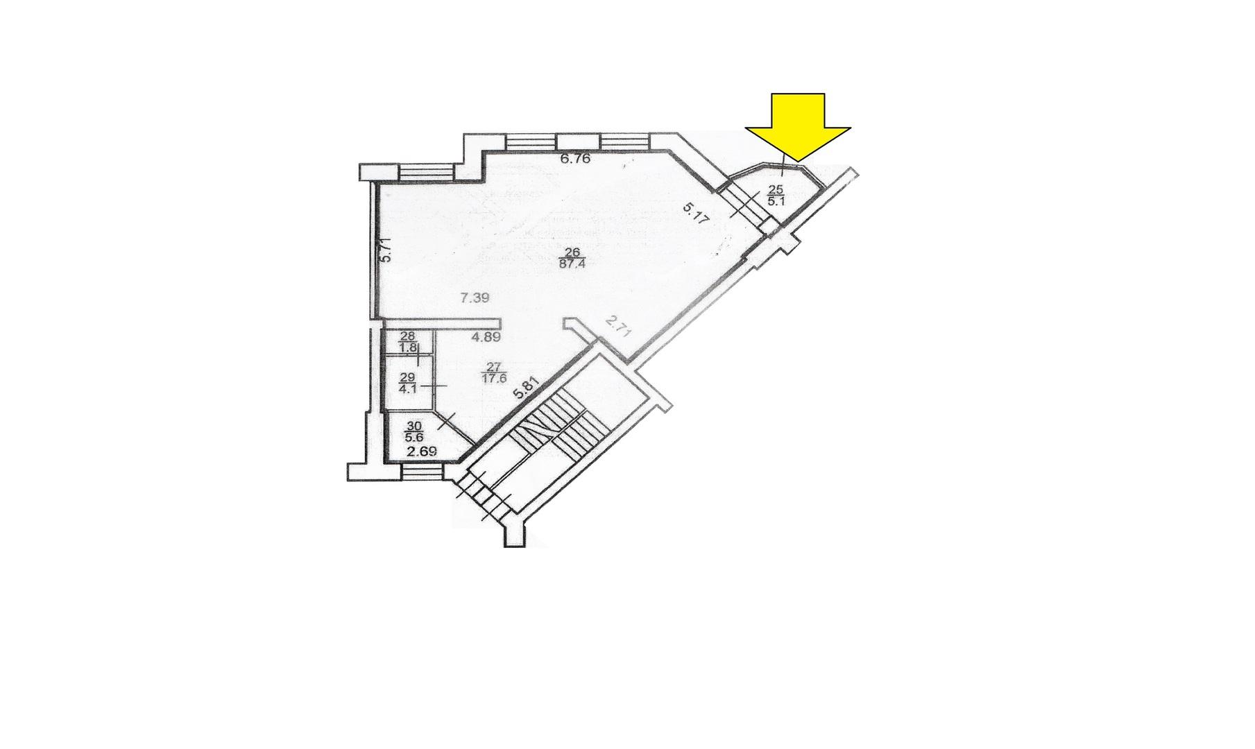 Сдам торговую площадь, 121,6м²