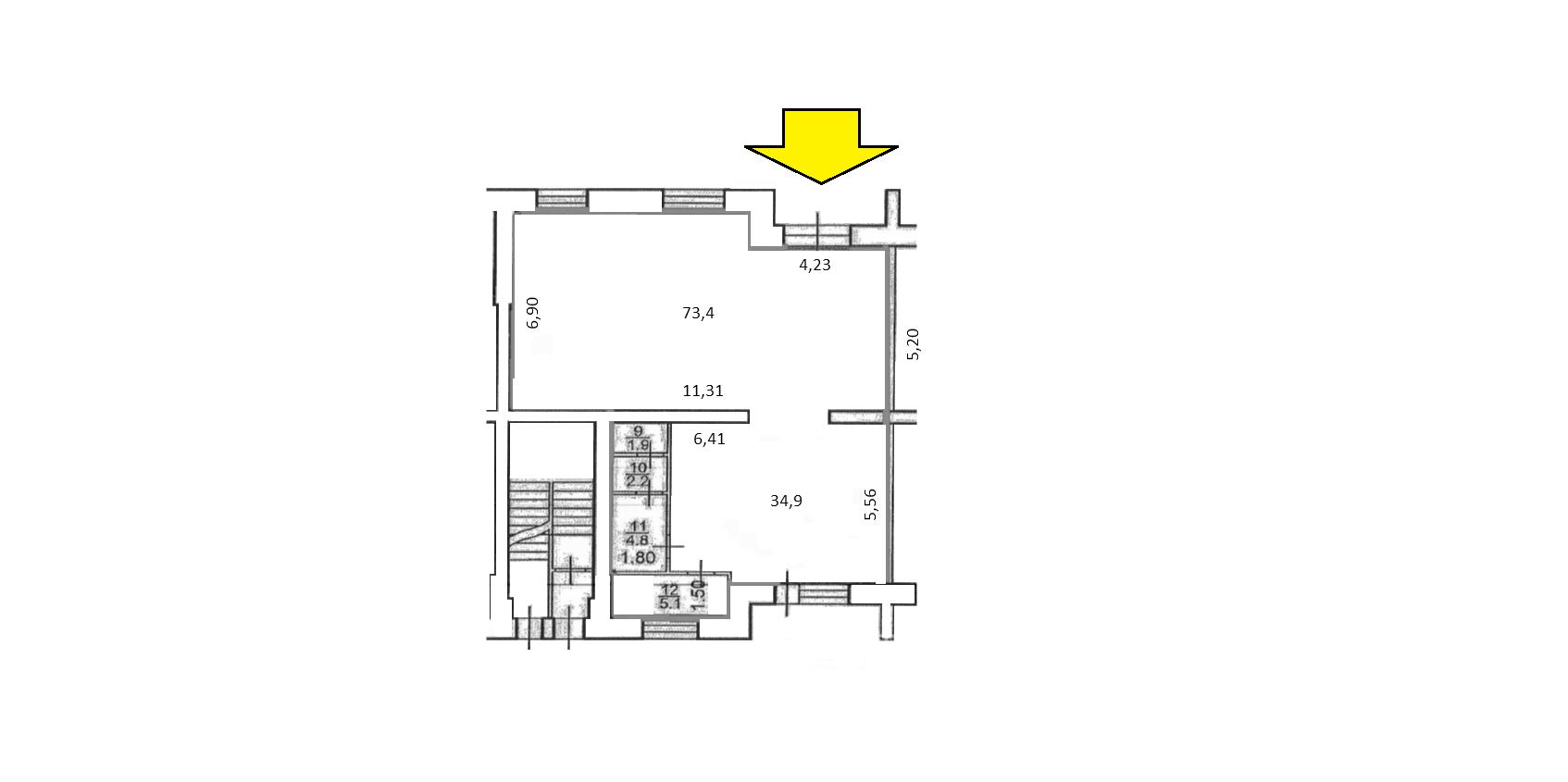 Сдам торговую площадь, 123м²
