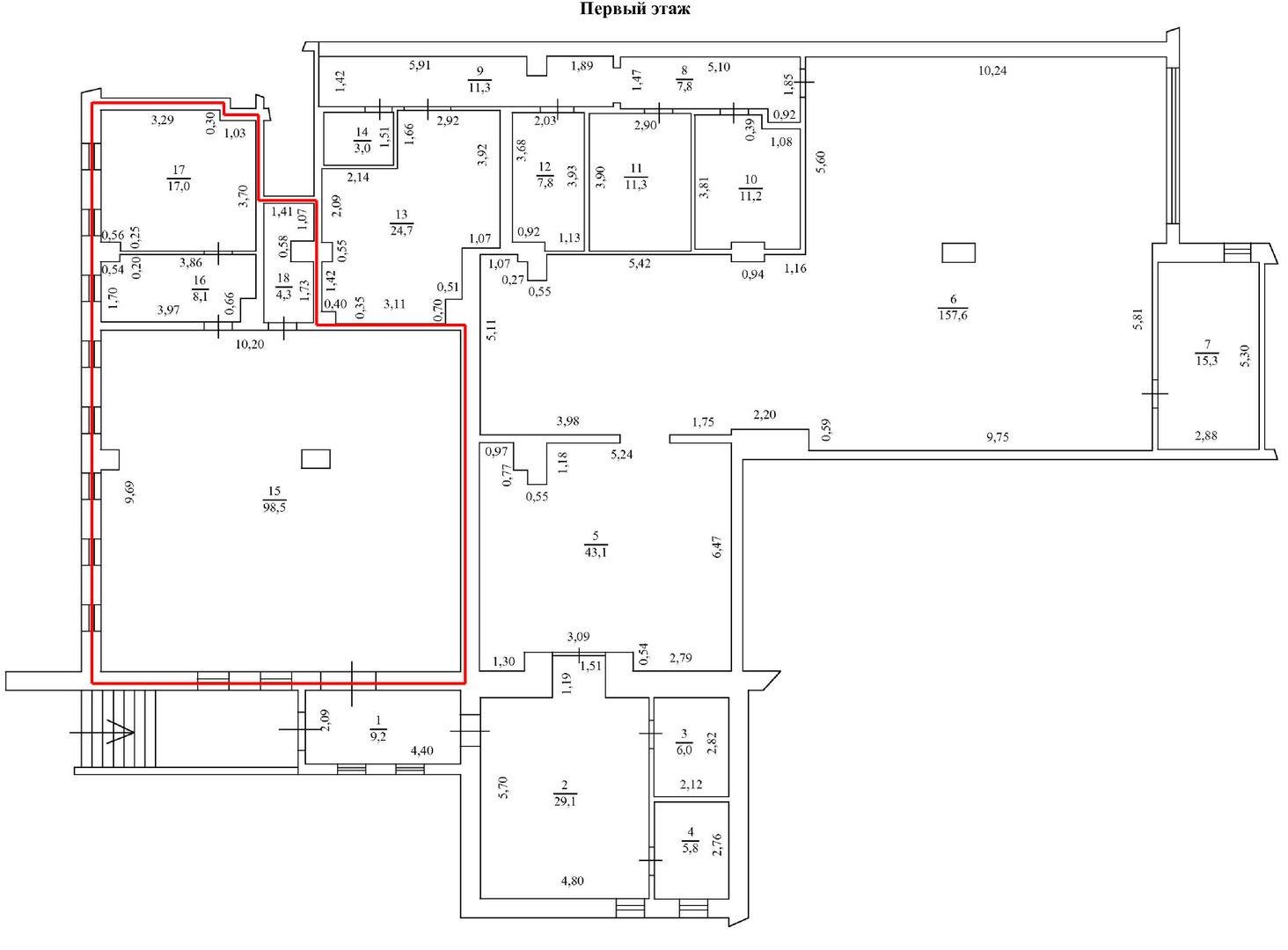 Сдам торговую площадь, 127,8м²